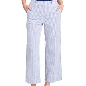 Anne Klein Seersucker Blue/White Stripe Pant 8P